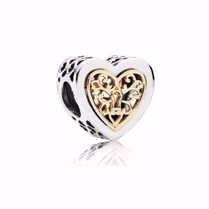 Pandora Charm Locked Hearts Two-Tone